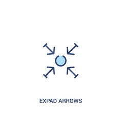 Expad arrows concept 2 colored icon simple line vector
