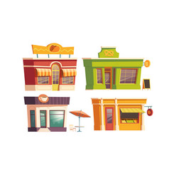 fast food restaurant building cartoon vector image