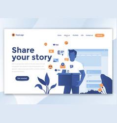 flat modern design wesite template - share vector image