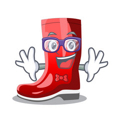 Geek single of boots isolated on mascot vector