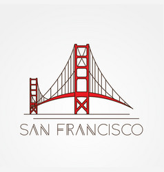 golden gate bridge - symbol us san vector image