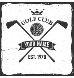 Golf club concept vector image