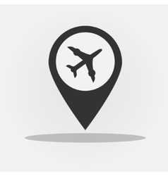 Gps navigation style icon with plane vector