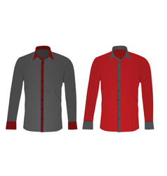 grey and red long sleeved shirt vector image