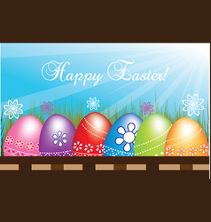 happy easter eggs vector image