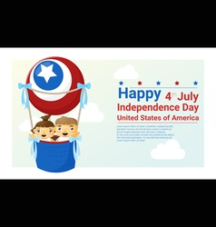 Happy independence day usa 4th july vector