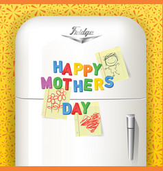 Happy mothers day magnetic letters vector