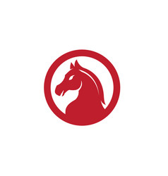 horse head symbol inside circle for logo vector image