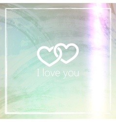 I love you abstract grunge background for web or vector