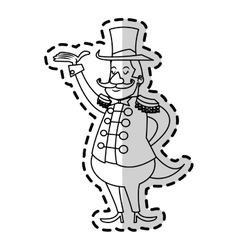 Isolated circus man design vector