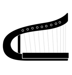 isolated harp musical instrument icon vector image