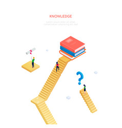 knowledge concept - modern isometric web vector image