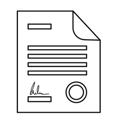 Legal contract icon vector
