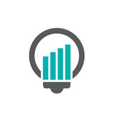 light bulb logo icon vector image