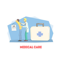 medical care banner template healthcare poster vector image
