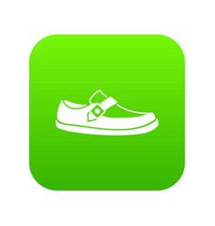 men moccasin icon digital green vector image
