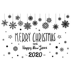 merry christmas and happy new year 2020 year vector image