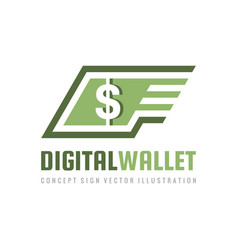 mobile speed payment digital wallet money dollar vector image
