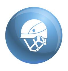 Mountain climb helmet icon simple style vector