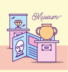museum monuments design vector image