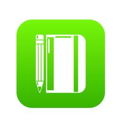 notepad pencil icon simple black style vector image