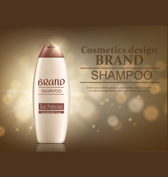 packaging products hair care design bottles sha vector image