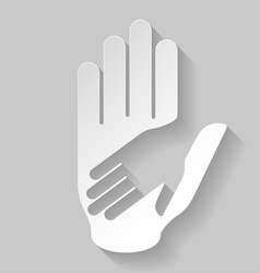 Paper helping hand vector image