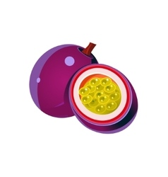 Passion Fruit Flat Sticker vector