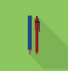 pencil and pen icon set of great flat icons vector image