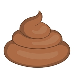 Piece of turd icon cartoon style vector image