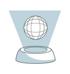 Planet global network hologram stock vector
