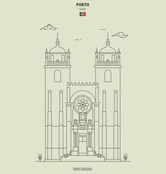 Porto cathedral portugal vector