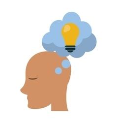 profile head idea bubble thought vector image