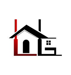 real estate l g vector image