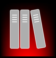 row of binders office fers icon vector image