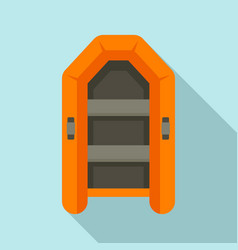 Rubber inflatable boat icon flat style vector