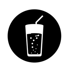 Soda glass isolated icon vector