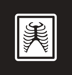 Stylish black and white icon x-rays of ribs vector