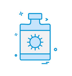 sunblock icon design vector image