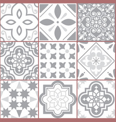 Tiles design azulejo seamless pattern vector