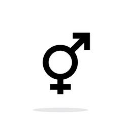 Transgender icon on white background vector image