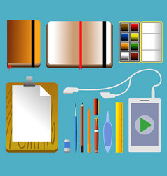 travel sketcher tool vector image