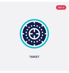 two color target icon from army concept isolated vector image