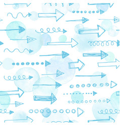 watercolor seamless pattern vector image