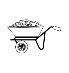 Wheelbarrow icon image vector