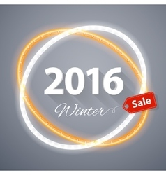 Winter 2016 Sale Poster vector image