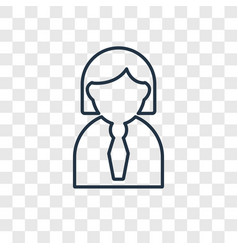 Women concept linear icon isolated on transparent vector