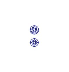 world communication logo icon vector image