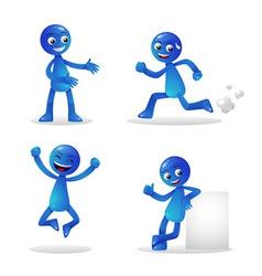 Blue Person Activity 1 vector image vector image