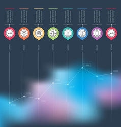Business chart graph or presentation infographics vector image vector image